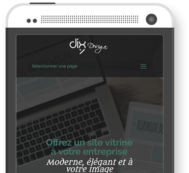 site vitrine smartphone